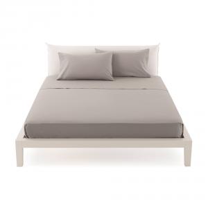 Bassetti Time Lenzuola di sopra per letto singolo 160x280 - grigio 1701
