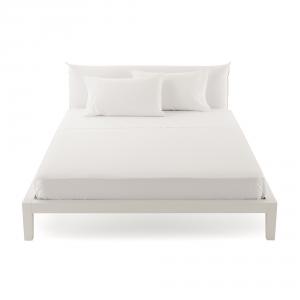 Bassetti Time Lenzuola di sopra per letto singolo 160x280 - bianco 1000
