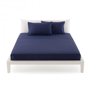 Bassetti Time Lenzuola di sopra per letto singolo 160x280 - blu 1323