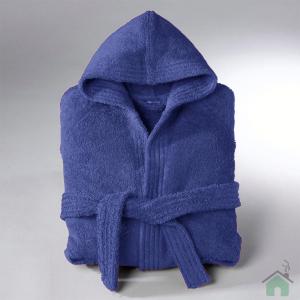 Accappatoio con cappuccio in Spugna di cotone Happidea UNISEX - S/M bluette