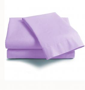 Lenzuola Matrimoniale puro cotone sotto con angoli ISTAR Maxi materassi grande - lilla