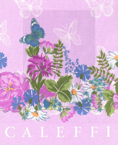 Set lenzuola Liberty CALEFFI per letto matrimoniale Floreale rosa-Rosa