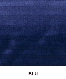 Coppia di Federe in raso di puro cotone ISTAR Jacquard Blu