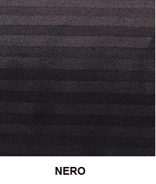 Coppia di Federe in raso di puro cotone ISTAR Jacquard Nero