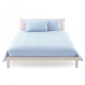 Copripiumino misura maxi 270 x 270 in vari colori copritrapunta puro cotone ISTAR  - azzurro