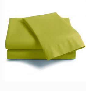 Lenzuola Matrimoniale puro cotone sotto con angoli ISTAR Maxi materassi grande - verde acido