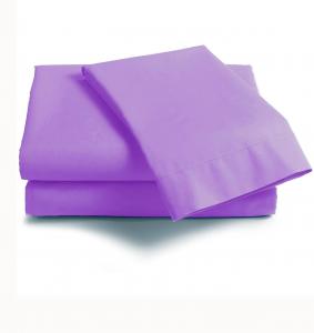 Lenzuola Matrimoniale puro cotone sotto con angoli Maxi materassi grande - viola