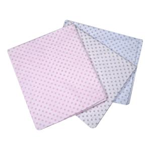 Coppia di federe in fantasia per parure lenzuola matrimoniali maxi fuori misura ISTAR - pois rosa