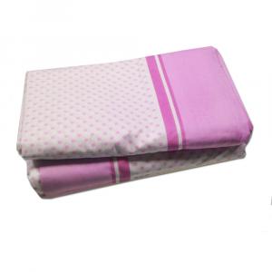 Lenzuola di sopra matrimoniali MAXI fuori misura 290 x 310 ISTAR fantasia - pois rosa
