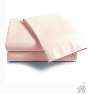 Lenzuola Matrimoniale puro cotone sotto con angoli Maxi materassi grande - cipria