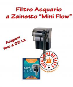 Filtro per Acquario a Zainetto Mini Flow per acquari fino a 25 Litri BluBios