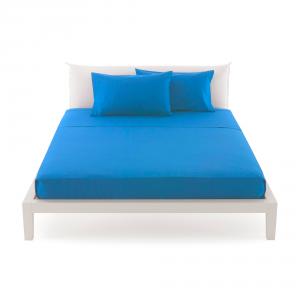 Bassetti Time Lenzuola di sopra per letto singolo 160x280 - bluette 3378