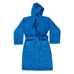 Accappatoio con cappuccio in Spugna di puro cotone Bassetti  TIME, vari colori, UNISEX-Bluette-XL