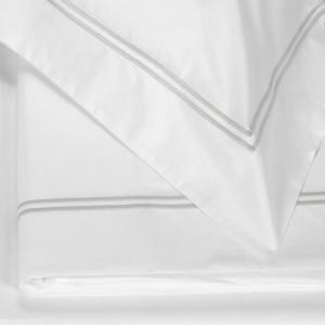 FAZZINI set lenzuola Maxi matrimoniale LAVANDA percalle di cotone - grigio