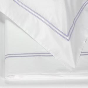 FAZZINI set lenzuola Maxi matrimoniale LAVANDA percalle di cotone - lilla