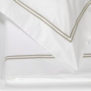 FAZZINI set lenzuola Maxi matrimoniale LAVANDA percalle di cotone - beige