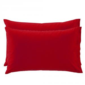 2 Federe per guanciali Bassetti Time 50x80 - vari colori - rubino