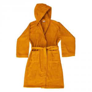 Accappatoio con cappuccio in Spugna di puro cotone Bassetti  TIME, vari colori, UNISEX - Arancio-XL
