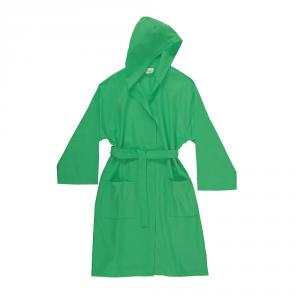 Accappatoio con cappuccio in microfibra Bassetti TIME, vari colori, UNISEX - verde menta 1258 - M