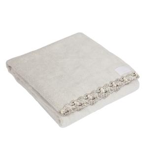 Telo da bagno La Perla con pizzo ricamato Petit maison microspugna - grigio