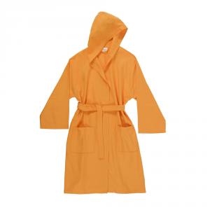 Accappatoio con cappuccio in microfibra Bassetti  TIME, vari colori, UNISEX - arancio 1921 - L