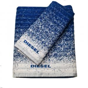 Diesel set 1+1 asciugamano e ospite GRADIENT spugna di puro cotone - indigo