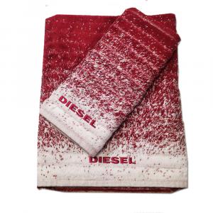 Diesel set 1+1 asciugamano e ospite GRADIENT spugna di puro cotone - bordeaux