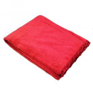Telo da bagno La Perla con pizzo ricamato Petit maison microspugna - rosso