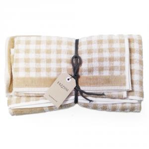 FAZZINI set 1+1 asciugamano e ospite SCOTLAND 100% spugna - corda