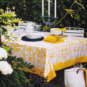 Fazzini tovaglia in cotone TERESA gialla - misura 150x240 cm