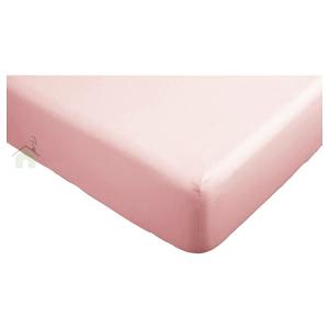 Lenzuola con angoli matrimoniali per letti grandi 180x200 cm + 30 di altezza - rosa