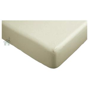 Lenzuolo di sotto con angoli letto matrimoniale 2 piazze caldo cotone 180x200 cm - tortora chiaro