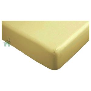 Lenzuolo di sotto con angoli letto matrimoniale 2 piazze caldo cotone 180x200 cm - curcuma