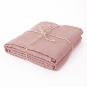 Lenzuolo di sopra matrimoniale 2 piazze 240x300 cm in puro lino LOFT - rosa antico
