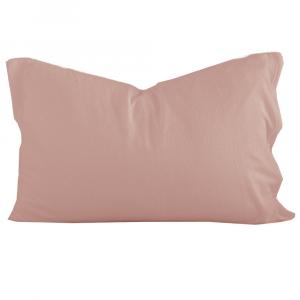 Federa sfusa 50x80 cm in puro lino LOFT tinta unita - rosa antico