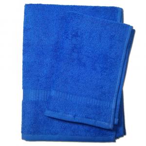 Set 1+1 asciugamano e ospite  SERENITY in spugna - bluette 046