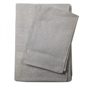 Set 1+1 asciugamano e ospite SERENITY in spugna -silver grey 088