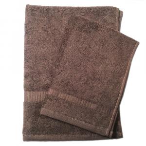 Set 1+1 asciugamano e ospite  SERENITY in spugna - cappuccino 297