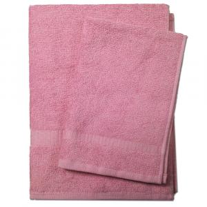 Set 1+1 asciugamano e ospite  SERENITY in spugna - rosa antico 055