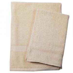 Set 1+1 asciugamano e ospite  SERENITY in spugna - beige 034