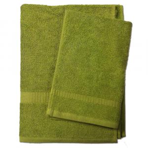 Set 1+1 asciugamano e ospite SERENITY in spugna - verde 033