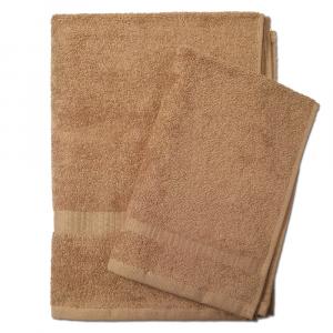 Set 1+1 asciugamano e ospite SERENITY in spugna - sabbia 048