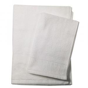 Set 1+1 asciugamano e ospite SERENITY in spugna - bianco 090