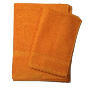 Set 1+1 asciugamano e ospite SERENITY in spugna - arancio 050