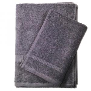 Set 1+1 asciugamano e ospite SERENITY in spugna - antracite 071