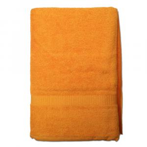 Telo da bagno 100x150 cm SERENITY in spugna tinta unita - arancione 050