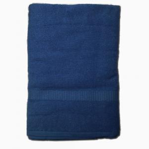 Telo da bagno 100x150 cm SERENITY in spugna tinta unita - blu navy N36