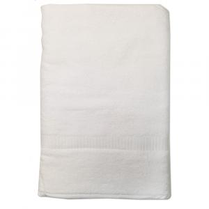 Telo da bagno 100x150 cm SERENITY in spugna tinta unita - bianco 090