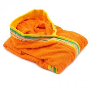 Accappatoio per bambino in spugna con cappuccio GABEL Pongo - arancione XL - 5 anni, 101-110 cm
