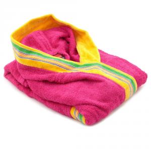 Accappatoio per bambino in spugna con cappuccio GABEL Pongo - fuxia XL - 5 anni, 101-110 cm